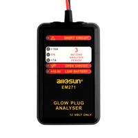 mitsubishi elétrico venda por atacado-Ferramenta de Reparação de carro EM271 Glow Plug Analisador de Análise de Medição Analisadores de Instrumento Automotivo Testador Elétrico com Display LED