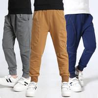 ingrosso pantaloni gialli-2019 Primavera New Kids Boys Cotone Hip Hop Harem Pantaloni sportivi per ragazzi Ragazzi pantaloni lunghi per bambini Sport scolastici gialli pantaloni sportivi