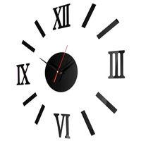 Wholesale 3d art stickers for sale - 3D Home Decor Wall Clock Roman Numerals Frameless Flexible Creative Smart Clocks Art Stickers Acrylic Mute ce jj
