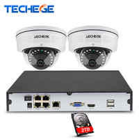 Wholesale home security cctv kit resale online - 4CH P CCTV System POE NVR P Video Output TVL MP Vandalproof IP Camera Home Security Surveillance Kits