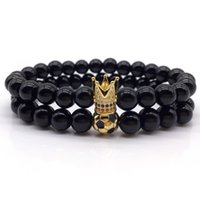 розовое кольцо из кружева с кружевами оптовых-NAIQUBE 2018 New Fashion Mens Bead Bracelet Fashion Classic Stone  Charm Bracelets For Men Fahion Jewelry Gift
