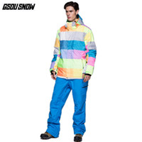 fc77d40b91 GSOU SNOW Brand Ski Suit Men Ski Jackets Snowboard Pants Waterproof Skiing  Set Snowboarding Suit Winter Cheap Sport Snow Clothes