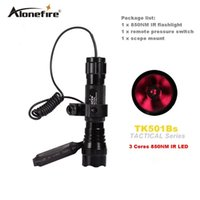 infrarot-lichter für nachtsicht großhandel-AloneFire 501B 3 Core 5W 850NM Infrarot-LED-Taschenlampe mit Nachtsichtinstrument-Fülllichtfunktion