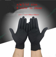 Wholesale glove static resale online - 100pcs pair Disposable Portable Glove Rubber Nitrile Eco Friendly Durable Security Soft Gloves Anti Static Slip Resistant KKA5685