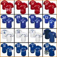 Wholesale toronto 19 - Toronto Blue 6 Marcus Stroman 11 Kevin Pillar 19 Jose Bautista Jersey 29 Joe Carter 20 2 12 Roberto Alomar Baseball Jerseys