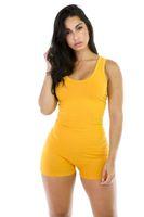 ingrosso tuta della tuta da club-molti colori hanno scelto a buon mercato Sexy Bodysuit Women Sleeveles Playsuit Estate Bodycon tuta Short Pagliaccetti Womens Jumpsuit Club Body Femme