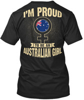 Wholesale australian shirt for sale - Im Proud To Be An Australian Girl I m Standard Unisex T Shirt T Shirt for Men Summer Custom Short Sleeve Valentine s Plus Size Team Tshir