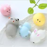 Wholesale kawaii doll case for sale - Group buy 10pcs Mini Squeeze Toy Squishy cat Cute Kawaii doll Squeeze Stretchy Animal Healing Stress Hand Fidget vent Toys Paste on for cellphone Case