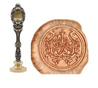 Wholesale brass sealing stamps resale online - Vintage Damask Wax Seal Stamp Peacock Metal Handle Bronze Brass Stamp kids Xmax gifts