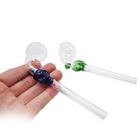 caveira de reciclagem venda por atacado-Tubo de óleo de vidro Crânio 5.5 polegadas colorido Lidar Com Tubos Curvo Mini Reciclador de Mão de vidro Queimador de Óleo de Tubos De Fumar