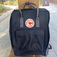 Wholesale Blue Computer Bag - 2018 New Backpack School Bag Girls double shoulder Canvas Lovers Leisure Travel Bag student