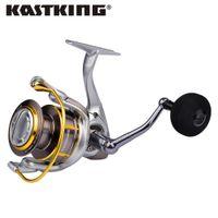 carrete de la serie al por mayor-KastKing Kodiak Carrete giratorio de agua salada Max Drag 18 KG 10 + 1 rodamientos de bolas Serie 2000-5000 Potente carrete de pesca para lucio