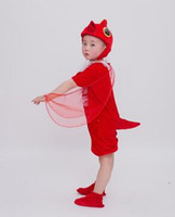 2018 New style children Cosplay Red and yellow Chick Animal perform Sequins clothing Boys and girls Dance Conjoined clothes