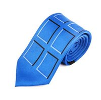 Wholesale doctor accessories for sale - TARDIS Neck Tie Doctor Who Police Public Call Box Necktie Dr Who Halloween Adult Fashion Party Wedding Accessories
