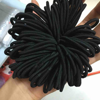 Wholesale tied ponytail holders - 2017 New fashion 100pcs Women Elastic Hair Ties Band Ropes Ring Ponytail Holder Accessories Black A@ dropshipping