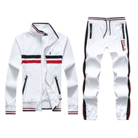Wholesale Men s Hoodies and Sweatshirts Sportswear Man Polo Jacket pants Jogging Jogger Sets Turtleneck Sports Tracksuits Sweat Suits