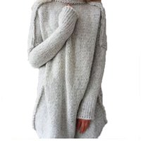 Wholesale Warm Long Gloves - Top 2018 Winter New High Quality Women Fashion Warm Sweater With Gloves Plus Size Knitted Sweater Thickened Casual Warm Loose Knits