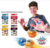 Wholesale magic black ball - Fingertips Magneto Spheres Decompression Magic Magnetic Ball Finger Flash Lamp Colorful Finger Induction Balls Toys Kids Toy Gift WJ