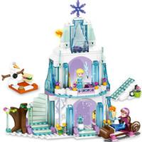 kale seti toptan satış-yapıtaşları 79168 316pcs Prenses NEGO ile karşılaştırılabilir DIY modeli çocuk oyuncakları Lepin prenses seti Buz Kar Kalesi'ni ayarlar