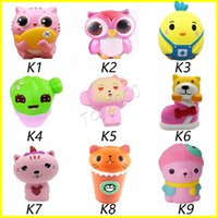 Wholesale Doll Toy Wholesale - Hot Squishy toys Owl Jumbo Kawaii Animal Cute Soft Slow Rising Phone surprise doll Strap Squeeze Break Kids Toy Relieve Anxiety Fun Gif