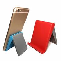 Wholesale portable fold stand tablet pc resale online - usheng Cell Phone Stand desktop universal folding mobile phone stand Tablet PC Universal stent portable lazy stent