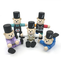 Wholesale Toy Metal Robot - Baby Creative Deformation Intelligence Funny Toys Material Safety Elastic Joint Activity Wooden Robot Smooth Surface Positive Color 6qd W