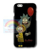 Wholesale iphone anime casing - Anime Rick and Morty for Iphone 6 6s 7 7plus 8 8plus,for Iphone X Samsung S7 S8 Plus Hard Plastics Phone Protective Case