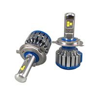 erros de led da lâmpada h7 venda por atacado-2019 Novo Erro Livre Super Brilhante Faróis Do Carro H7 H4 H1 LED Auto Frente Bulbo Automóveis Faróis 6000 K Car Iluminação