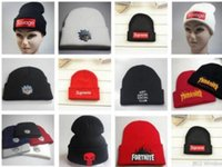 Wholesale new york SUP beanies Brand Winter Hat For Men Skullies Beanies Women Fashion Warm Cap Unisex Elasticity Knit Beanie Hats Drop Shipping