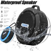 altavoz impermeable de gancho al por mayor-C6 Altavoz Inalámbrico Bluetooth Altavoz Reproductor de audio potente Potente altavoz Gancho y ventosa Reproductor de música estéreo con paquete al por menor