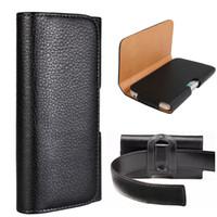 Wholesale pixel pocket online - Universal Belt Clip Case Leather Waist Bag Pouch Phone Cover Belt Holster for iPhone X Plus Samsung S9 Google Pixel XL