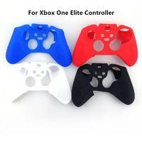 xbox elite venda por atacado-Frete grátis protetora suave silicon gel tampa da pele caso para xbox one elite controlador preto, branco, vermelho, cor azul