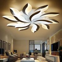luzes modernas para sala de estar venda por atacado-Luzes de teto conduzidas modernas acrílicas do projeto novo para a sala viva do quarto do estudo plafond do lampe avize a lâmpada interna do teto
