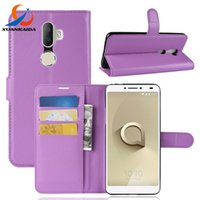 Discount alcatel skin cover case - For Alcatel 3V 3C 1X 1C 5044R Verso Cameox U5 4G HD 3G Litchi Skin Flip wallet leather case stand Card slots holder cover 30pcs