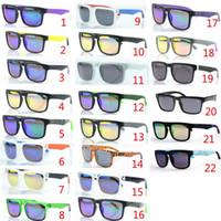 sonnenbrille für heiße sonne großhandel-Markendesigner Spioniert KEN BLOCK Sonnenbrille Helm 22 Farben Fashion Men Square Frame Brasilien Hot Rays Männlich Driving Sun Glasses Shades Eyewear