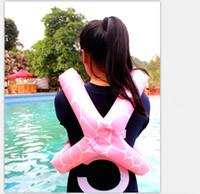 chaleco de natación inflable al por mayor-2018 Venta Caliente Equipo de Natación 17 * 17 cm Inflable Chaleco de Natación Regalos de Vacaciones de Verano para Niños Herramientas de Playa