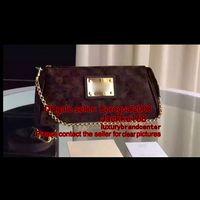 Wholesale Eva Clutch - EVA PURSE clutch WALLET N55213 N55214 M95567 N41277 M40717 small womens CROSS body satchel shoulder LUXURY handbag Chain strap M43434 25cm