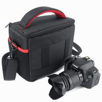 dslr camcorder großhandel-Wasserdichte DSLR Kamera Tasche Rucksack Foto Tasche für Canon Kamera Nikon Sony Alpha Tasche Panasonic Fujifilm Olympus SLR Umhängetasche