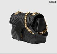 Wholesale leather handbags sales resale online - Hot Sale Fashion Vintage Handbags Women bags Designer Handbags Wallets for Women Leather Chain Bag Crossbody and Shoulder Bags