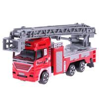 çocuklar için model kamyonlar toptan satış-Yüksek Simülasyon Mini Itfaiye Modeli Alaşım Araçlar Kamyon Oyuncak Çocuklar Hediye Koleksiyonu için Model Kontrol Merdiveni Kamyon Oyuncak Modelleri koleksiyonu