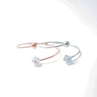 ingrosso braccialetto delicato del oro-Charms delicata Piazza intarsio di cristallo braccialetti aperti Rose Gold per le donne del polsino Wristband Bracciali pulseira feminina