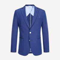 Wholesale linen suit online - Men s Casual Suits Luxury Cotton Fabrics Slim Men s Suits Two buttons Wedding Banquet Dresses Men s Jackets Gentlemen