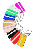кольца для ключей оптовых-Новый красочный посадочный талон самолета Plane багажа ID Tags Интернат для путешествий Адрес ID Card Case Bag Этикетки Card Dog Tag Коллекция ключей Кольца