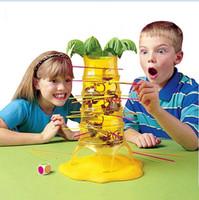 macaco jogos venda por atacado-Caindo caindo Macacos Jogo Crianças Brinquedos Educativos Dump Monkey Crianças Presentes de Aniversário Família Interação Board Game Toy