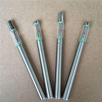 Wholesale Disposable E Cigs - 100pcs New disposable E cigs bud d1 vaporizer 0.5ml empty oil vape pen ceramic coil glass 510 cartridges metal mouthpiece