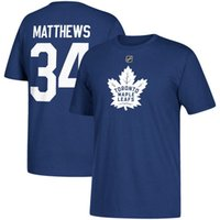 Wholesale maple neck yellow - 17-18 NHL Toronto Maple Leafs T-shirt AD Auston Matthews Mitchell Marner Nazem Kadri Patrick Marleau any custom Name & Number T-Shirt
