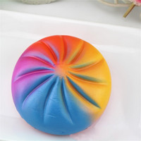 Wholesale hot toys silicone online - PU Decompression Toys Colorful Steamed Stuffed Bun Squishies Soft Slow Rising Stress Reliever Bread Cake Squishy Hot Sale ca CB