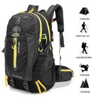 Wholesale waterproof canvas rucksack - Professional Climbing Bags Waterproof Travel Rucksack External Frame Mountaineering Camping Hiking Backpack 60L