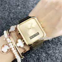 Wholesale bracelet designs for ladies for sale - Fashion Digital Watch Luxury Design Ladies LED Digital Bear Women Gold Steel Bracelet Wrist Watches Relogio Masculino for Female Gifts Dz