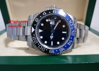Wholesale Colours Auto - 2 COLOURS Men luxury watche 40MM GMT 116710 116710LN Asia 2813 sapphire glassStainless steel bracelet Automatic Mens Watch Watches